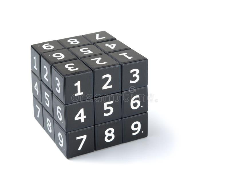 Γρίφος κύβων Sudoku στοκ εικόνες με δικαίωμα ελεύθερης χρήσης