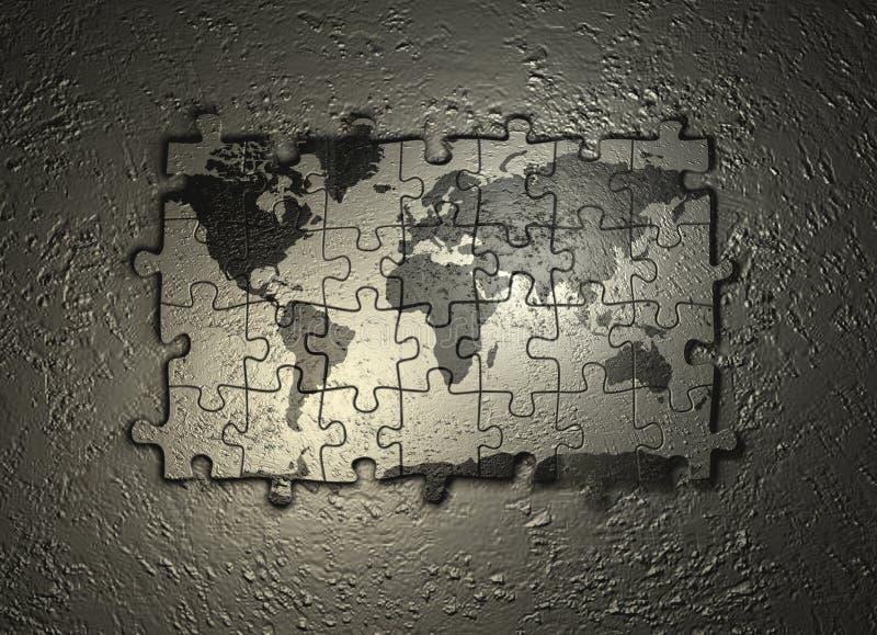 Γρίφος παγκόσμιων χαρτών στοκ εικόνα με δικαίωμα ελεύθερης χρήσης