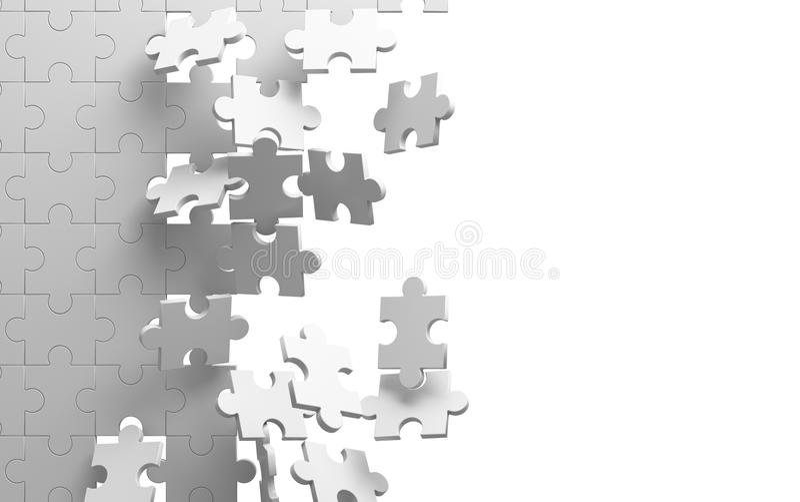 Γρίφος τορνευτικών πριονιών στο άσπρο υπόβαθρο σπάζοντας τοίχος ελεύθερη απεικόνιση δικαιώματος