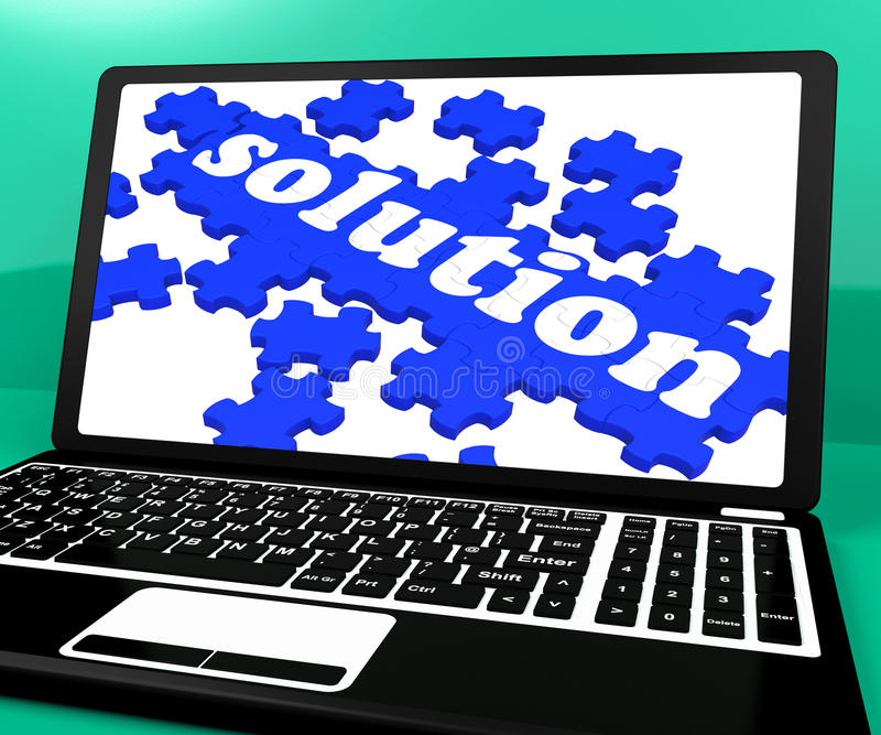 Γρίφος λύσης στο σημειωματάριο που παρουσιάζει εφαρμογές υπολογιστών διανυσματική απεικόνιση