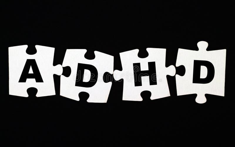 Γρίφος ADHD στοκ εικόνα