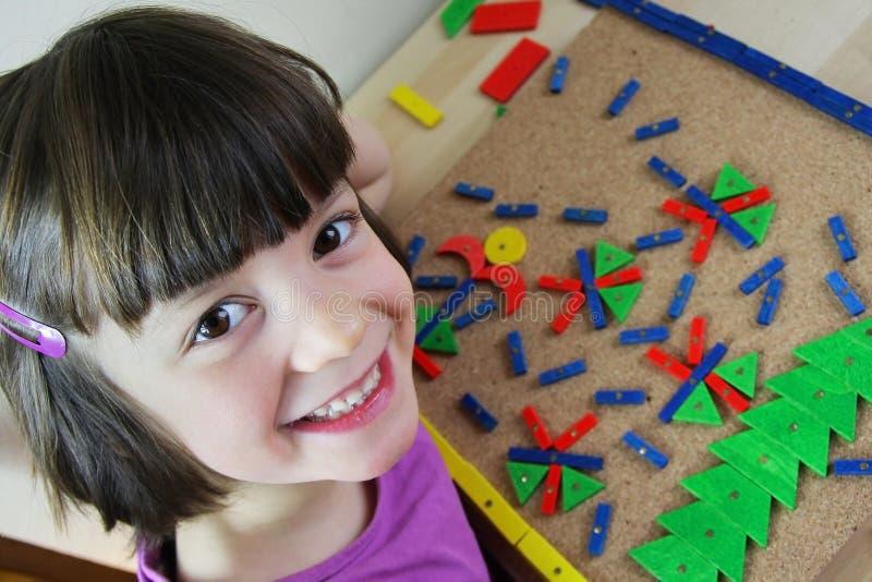 Γρίφος Montessori. Προσχολικός. στοκ φωτογραφίες με δικαίωμα ελεύθερης χρήσης