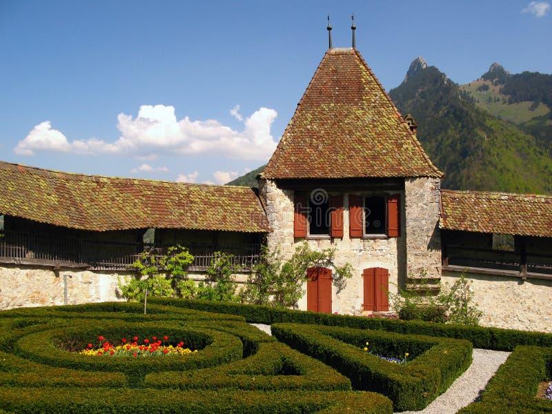 γραβιέρα Ελβετία κάστρων Στοκ Φωτογραφίες