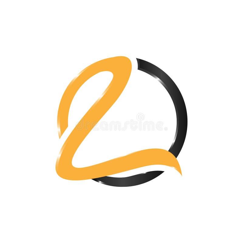 Γραμμάτων Λ διανυσματικό σχέδιο λογότυπων τεχνολογίας έξυπνο διανυσματική απεικόνιση