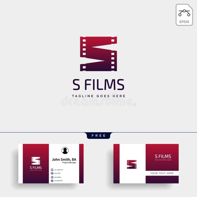 γραμμάτων S κινηματογράφων κινηματογράφων διανυσματική απεικόνιση προτύπων λογότυπων ταινιών απλή απεικόνιση αποθεμάτων