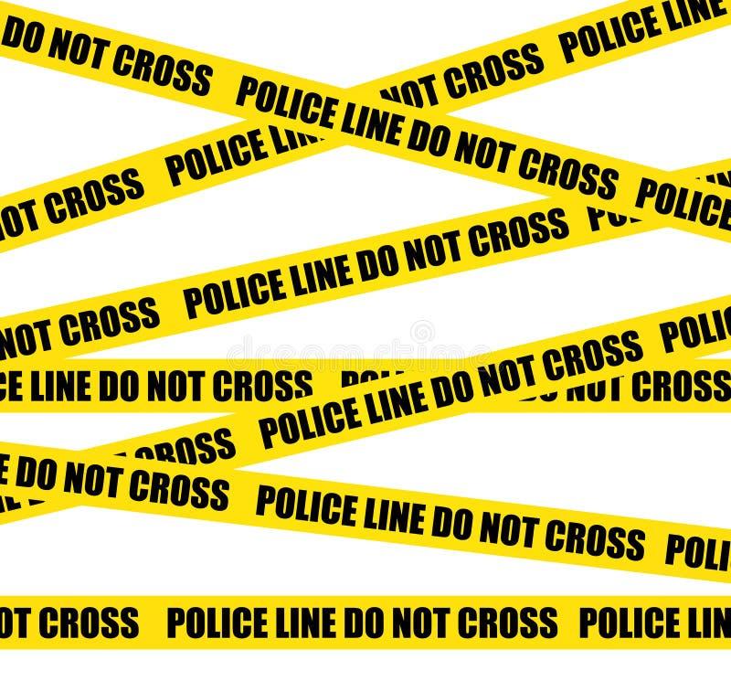 Γραμμές αστυνομίας ο σταυρός όχι εγκληματική σκηνή απεικόνιση αποθεμάτων