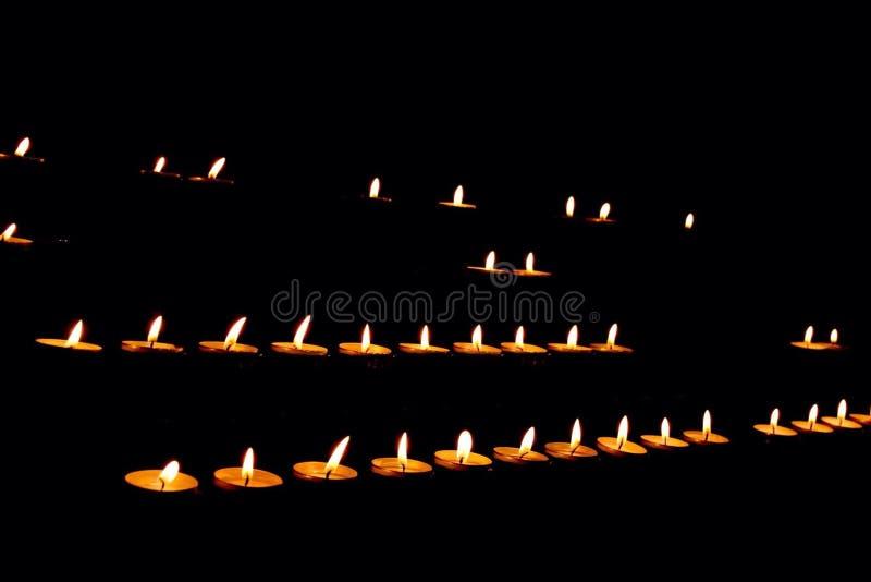 Γραμμές κεριών στοκ εικόνες