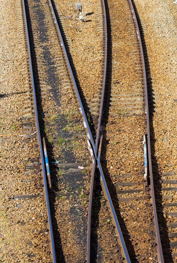 Γραμμές σιδηροδρόμων στοκ εικόνα με δικαίωμα ελεύθερης χρήσης