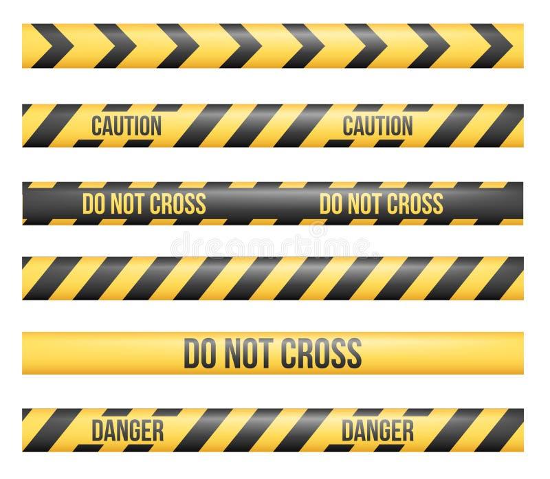 Γραμμές ταινιών κινδύνου διανυσματική απεικόνιση