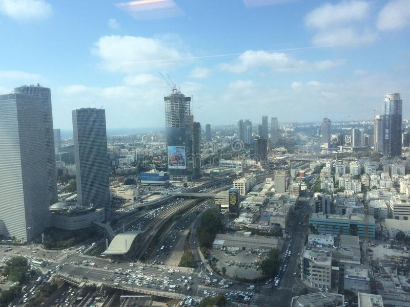 Γραμμή άποψης Τελ Αβίβ στοκ φωτογραφία