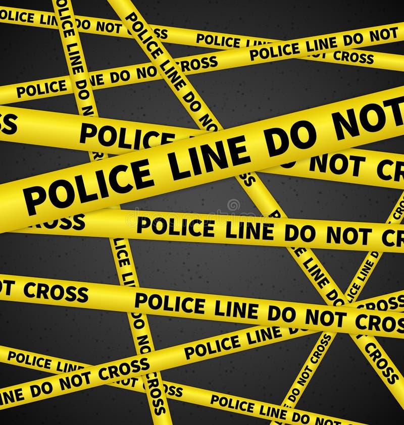 Γραμμή αστυνομίας ελεύθερη απεικόνιση δικαιώματος