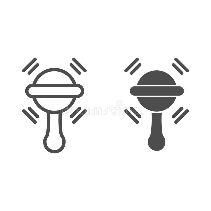 Γραμμή και glyph εικονίδιο Beanbag Μωρών παιχνιδιών απεικόνιση που απομονώνεται διανυσματική στο λευκό Το σχέδιο ύφους περιλήψεων ελεύθερη απεικόνιση δικαιώματος
