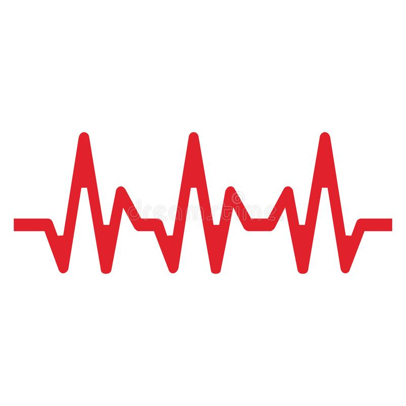 Γραμμή κτύπου της καρδιάς σε ένα άσπρο υπόβαθρο Διανυσματική απεικόνιση EPS10 διανυσματική απεικόνιση