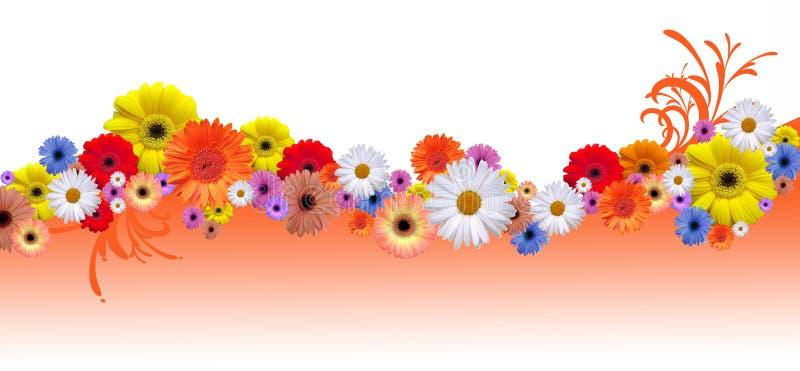 Γραμμή λουλουδιών διανυσματική απεικόνιση