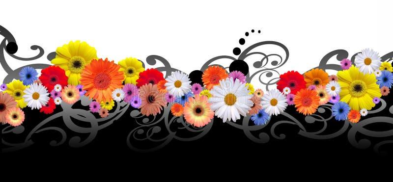 Γραμμή λουλουδιών ελεύθερη απεικόνιση δικαιώματος