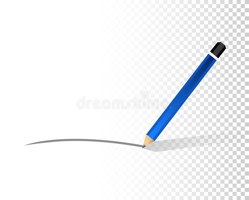 γραμμή μολυβιών πέρα από ένα κενό στρώμα σχεδίου διανυσματική απεικόνιση