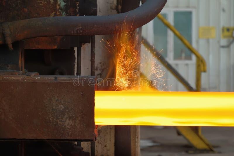 Γραμμή παραγωγής σιδήρου και χάλυβα στοκ φωτογραφία με δικαίωμα ελεύθερης χρήσης