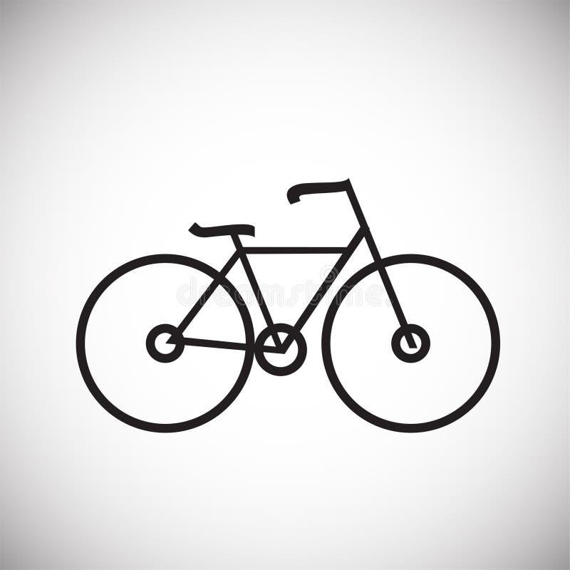 Γραμμή ποδηλάτων ανακύκλωσης λεπτά στο άσπρο υπόβαθρο διανυσματική απεικόνιση