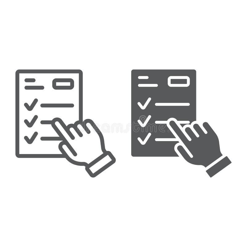 Γραμμή προγράμματος μελέτης και glyph εικονίδιο, εκμάθηση ε απεικόνιση αποθεμάτων