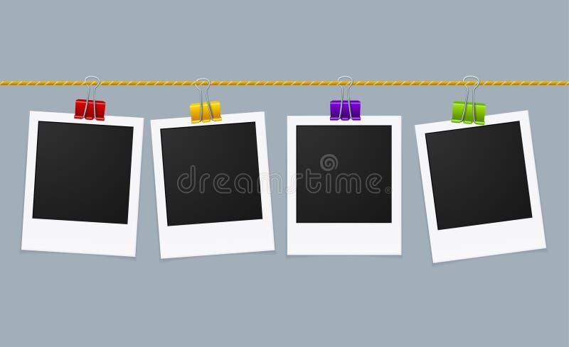 Γραμμή πλαισίων φωτογραφιών διάνυσμα ελεύθερη απεικόνιση δικαιώματος