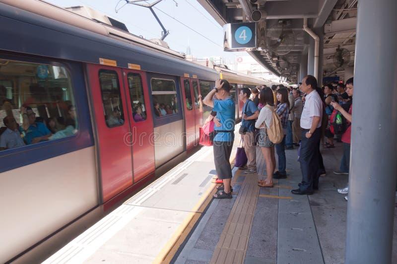 Γραμμή σιδηροδρόμων kowloon-καντονίου, Χογκ Κογκ στοκ φωτογραφίες