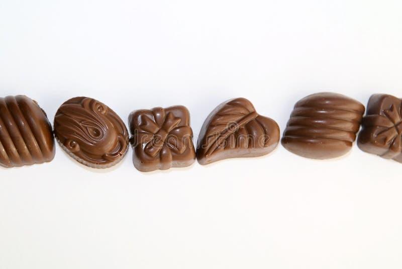 γραμμή σοκολάτας καραμελών στοκ φωτογραφία