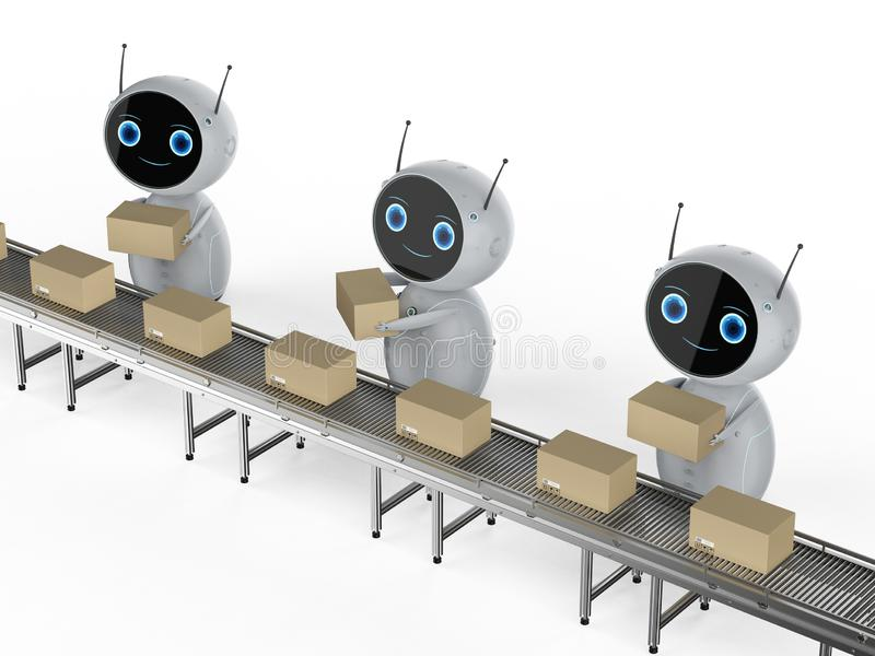 Γραμμή συνελεύσεων ρομπότ στοκ εικόνες