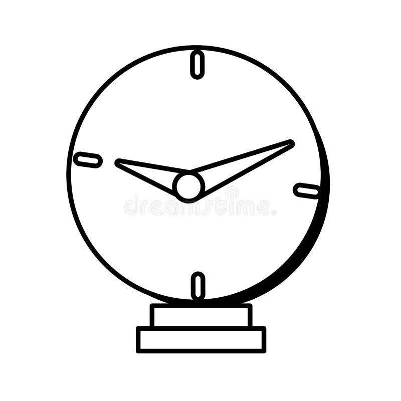 γραμμή σχεδίου χρημάτων χρονικών επιχειρήσεων ρολογιών διανυσματική απεικόνιση