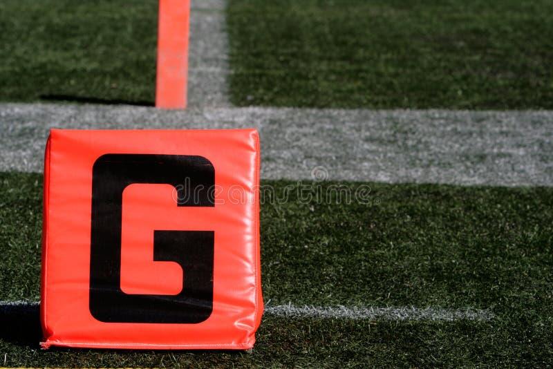 γραμμή τέρματος touchdown στοκ εικόνα με δικαίωμα ελεύθερης χρήσης