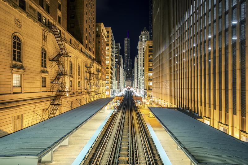Γραμμή τραίνων Adams Wabash στοκ φωτογραφία με δικαίωμα ελεύθερης χρήσης