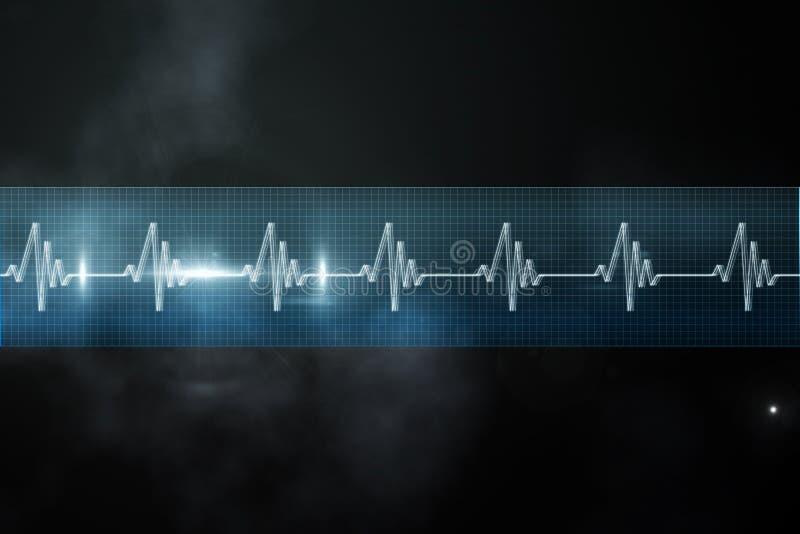 Γραμμή ECG μπλε και μαύρος απεικόνιση αποθεμάτων