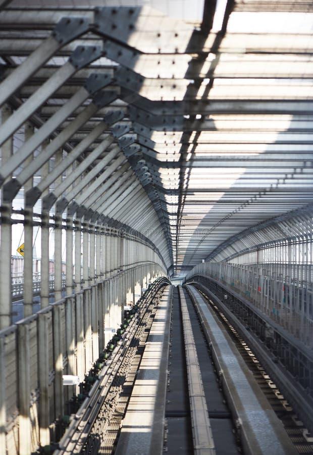 Γραμμή Yurikamome σιδηροδρόμου μετρό της Ιαπωνίας Τόκιο στοκ φωτογραφίες