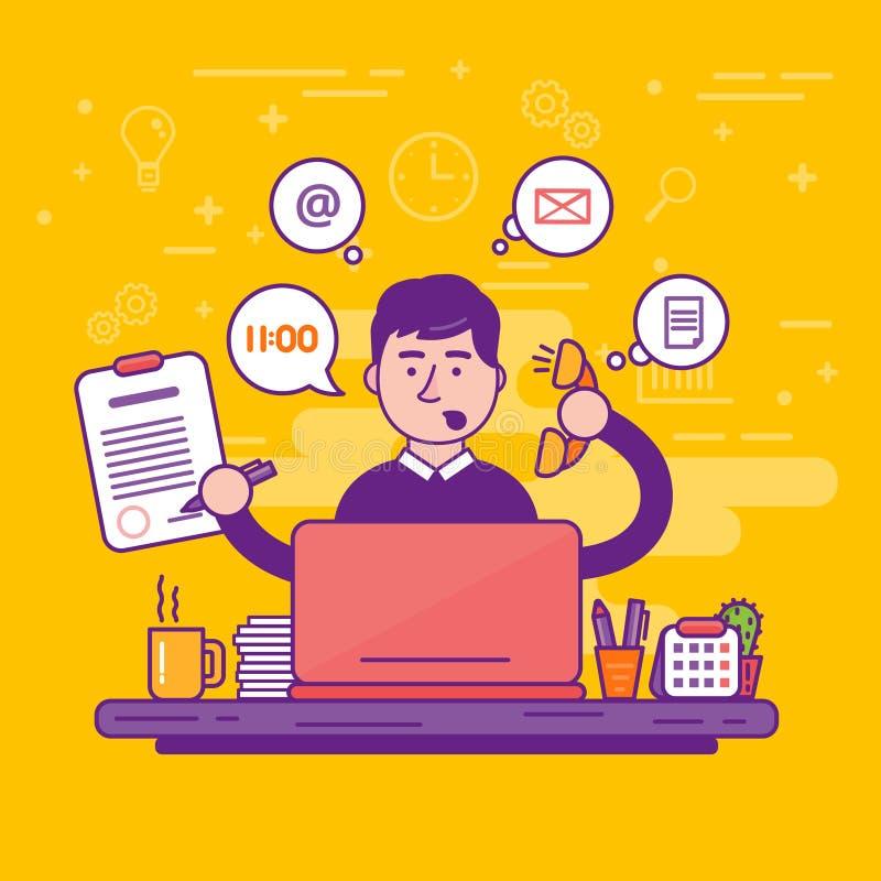 Γραμματέας γυναικών ή θηλυκή προσωπική βοηθητική διανυσματική απεικόνιση απεικόνιση αποθεμάτων