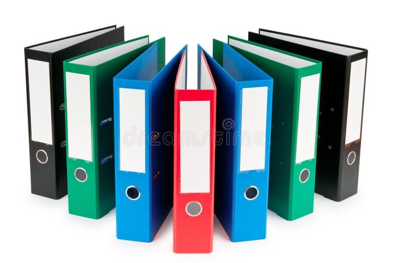 Γραμματοθήκες γραφείων που απομονώνονται στο λευκό στοκ εικόνες