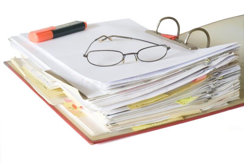 γραμματοθήκη αρχείων ανο&i στοκ εικόνα