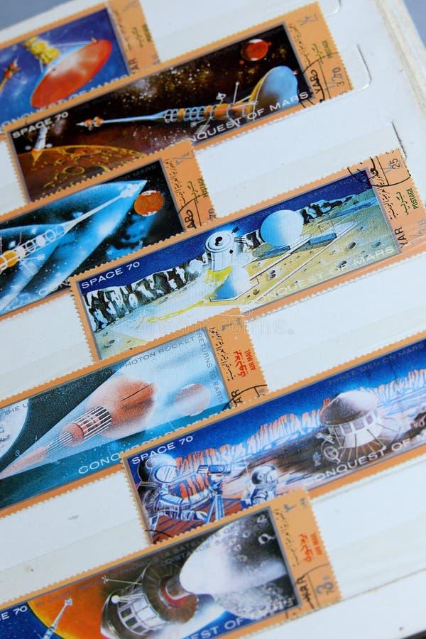 Γραμματόσημα, διαστημική συλλογή πλανητών του Άρη στοκ φωτογραφία με δικαίωμα ελεύθερης χρήσης