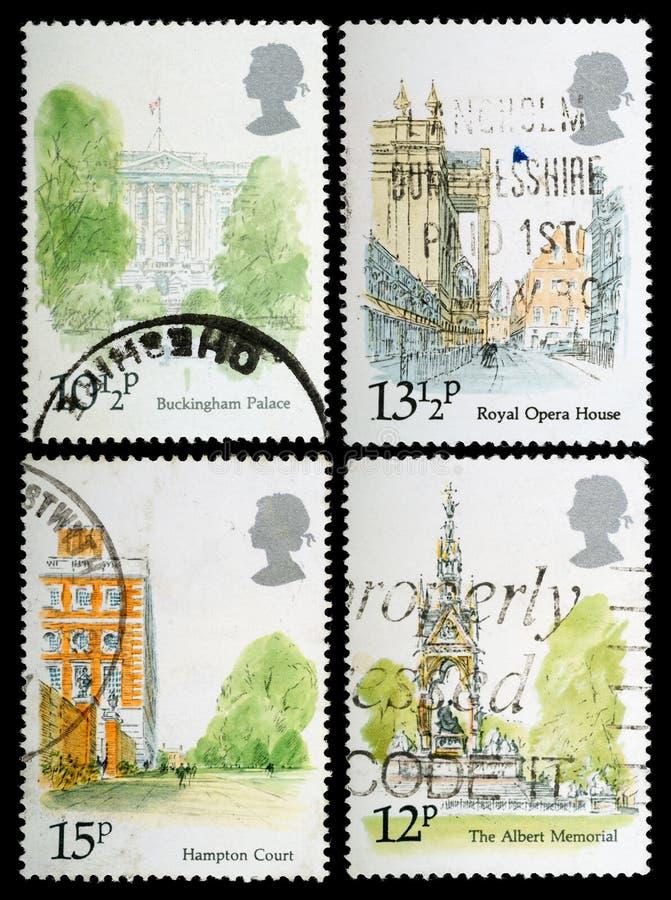 Γραμματόσημα ορόσημων του Λονδίνου στοκ φωτογραφία