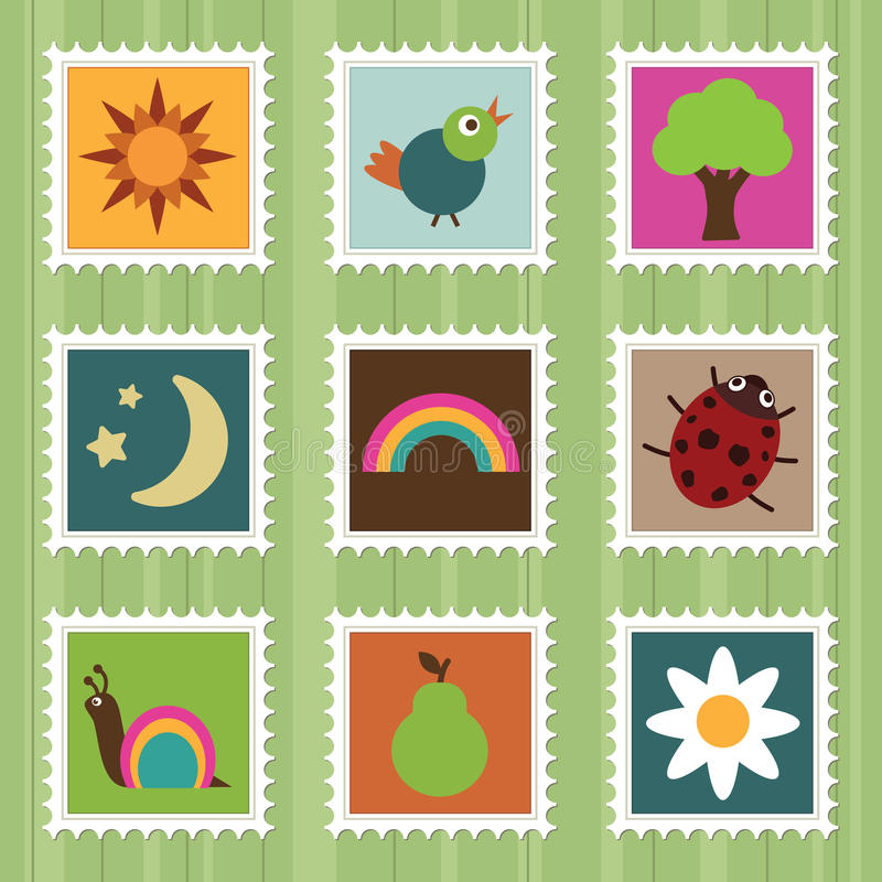 γραμματόσημα φύσης ελεύθερη απεικόνιση δικαιώματος