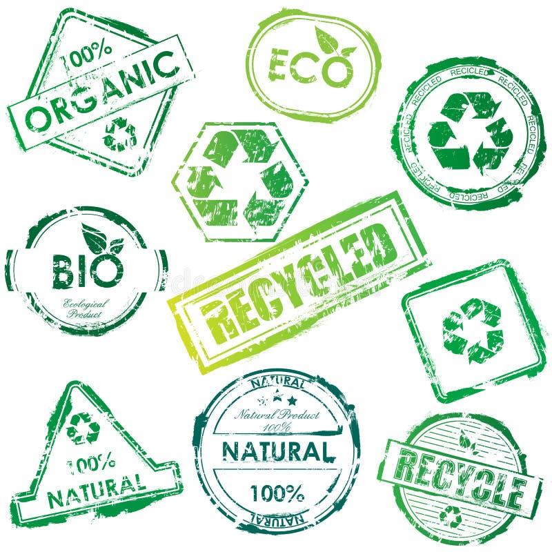 Download γραμματόσημα Eco Στοκ Φωτογραφία - εικόνα: 14227482
