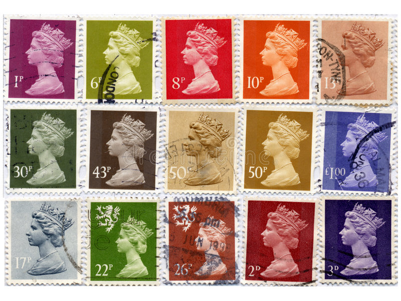 γραμματόσημα UK διανυσματική απεικόνιση