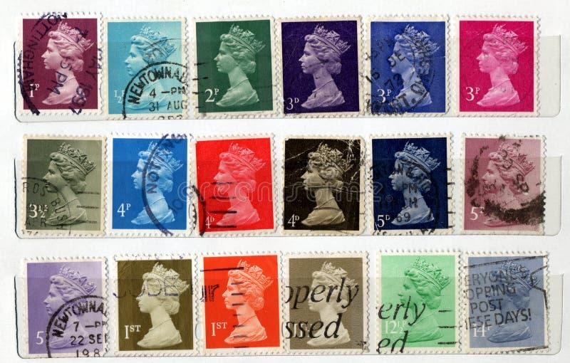 γραμματόσημα UK στοκ εικόνες με δικαίωμα ελεύθερης χρήσης