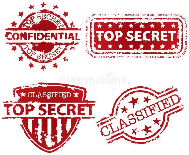 Γραμματόσημο άκρως απόρρητο διανυσματική απεικόνιση