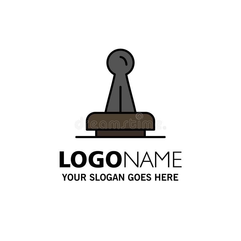 Γραμματόσημο, έγκριση, αρχή, νομική, σημάδι, λάστιχο, πρότυπο επιχειρησιακών λογότυπων σφραγίδων Επίπεδο χρώμα ελεύθερη απεικόνιση δικαιώματος