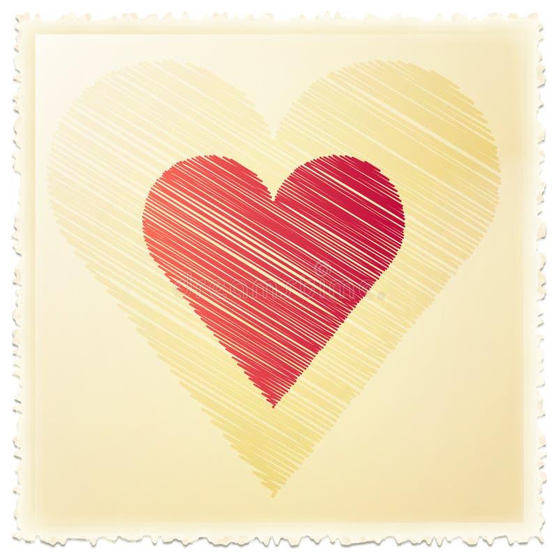 γραμματόσημο αγάπης ελεύθερη απεικόνιση δικαιώματος
