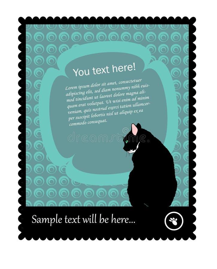 γραμματόσημο γατών απεικόνιση αποθεμάτων