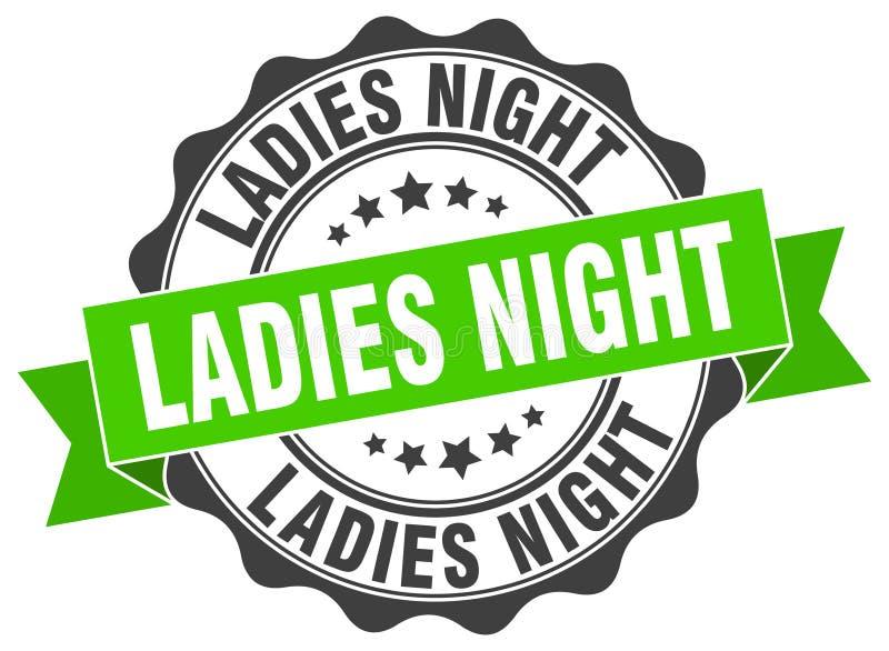 Γραμματόσημο γυναικείας νύχτας απεικόνιση αποθεμάτων