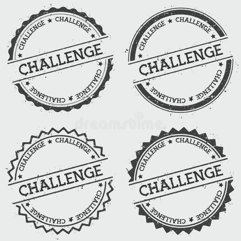 Γραμματόσημο διακριτικών πρόκλησης που απομονώνεται στο λευκό ελεύθερη απεικόνιση δικαιώματος