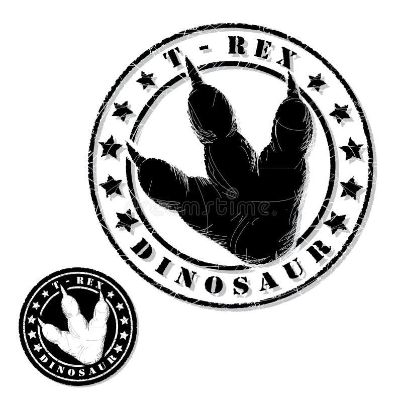 Γραμματόσημο δεινοσαύρων διανυσματική απεικόνιση