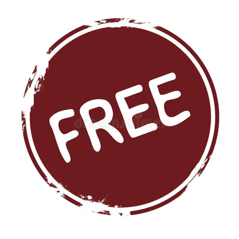 Γραμματόσημο: ελεύθερος ελεύθερη απεικόνιση δικαιώματος