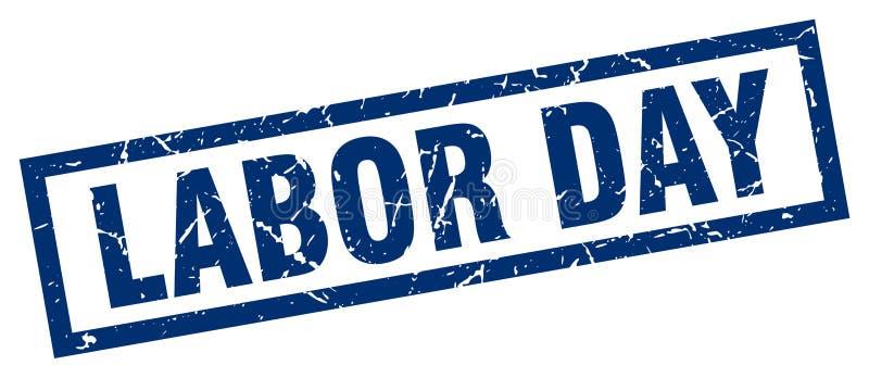 γραμματόσημο Εργατικής Ημέρας ελεύθερη απεικόνιση δικαιώματος